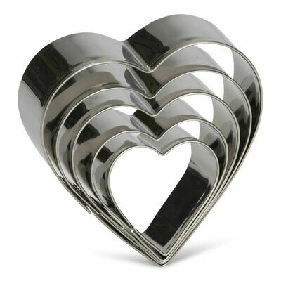 Patisse Cookie Cutters -HEARTS 5 τεμ.- Σετ 5τεμ  Κουπ πατ   ΚΑΡΔΙΕΣ