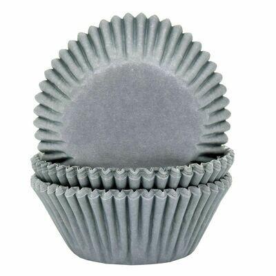 House of Marie Cupcake Cases GREY -Θήκες Ψησίματος -ΓΚΡΙ -50 τεμ