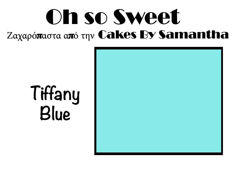 Ζαχαρόπαστα 'Oh So Sweet' από την Cakes By Samantha 500γρ -TIFFANY BLUE