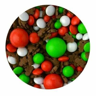 SALE!!! Sprinkletti Edible Sprinkles -GINGER BREAD  -Μείγμα Ζαχαρωτών με gingerbread ανθρωπάκια -100γρ ΑΝΑΛΩΣΗ ΚΑΤΑ ΠΡΟΤΙΜΗΣΗ 10/2020