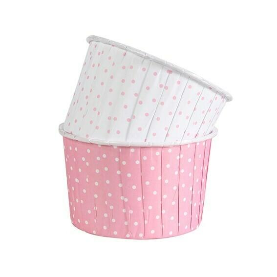 Culpitt Cupcake Baking Cups -PINK & WHITE POLKA DOT - Κυπελάκια Ψησίματος - Ροζ & Λευκό Πουά 24 τεμ