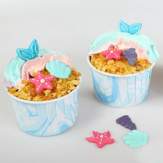 Culpitt Cupcake Baking Cups -MARBLE BLUE & WHITE - Κυπελάκια Ψησίματος με  Εφέ Μάρμαρο Μπλε & Λευκό 24 τεμ
