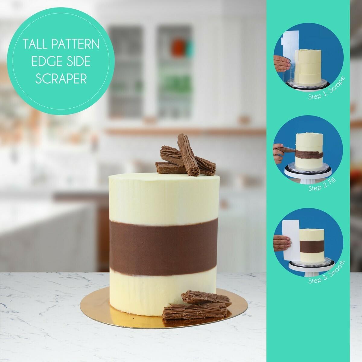 "PME Acrylic Side Scraper Latitude Ring For 4"" & 6"" Tall Cakes - Σπάτουλα Ακρυλική για Κέικ Ύψους 10εκ & 15εκ"
