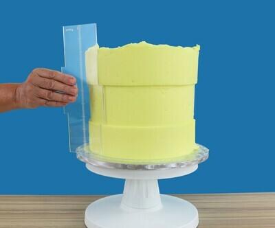 PME Acrylic Side Scraper Latitude Ring For 20εκ & 25εκ Tall Cakes - Σπάτουλα Ακρυλική για Κέικ Ύψους 20εκ & 25εκ