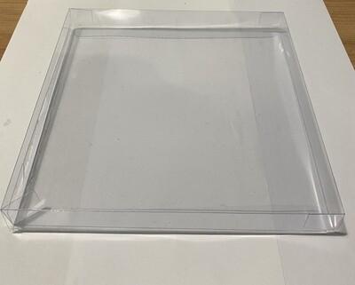 CLEAR BOX for COOKIES  - Διάφανο Τετράγωνο Κουτί για μπισκότα 19εκ x 19εκ x 2εκ