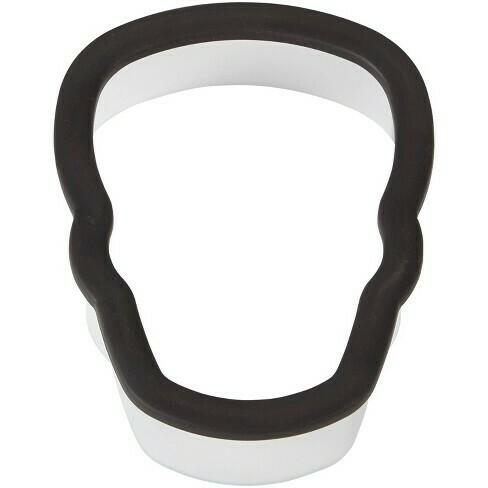 Wilton Halloween Plastic Grippy Cutter -SKULL - Πλαστικό Kουπ πατ Κρανίο με λαβή σιλικόνης 9.5εκ