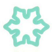 Wilton Christmas Plastic Grippy Cutter -SNOWFLAKE -Κουπ πατ πλαστικό Χιονονιφάδα με λαβή σιλικόνης 9.5εκ
