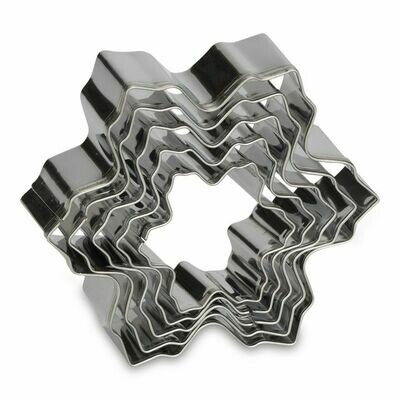 Patisse Cookie Cutters -Set of 5 -SNOWFLAKES - Σετ 5τεμ Κουπ πατ Χιονονιφάδες