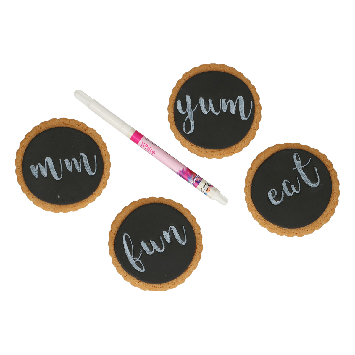 FunCakes Edible Brush Food Pen -WHITE -Βρώσιμος Μαρκαδόρος με Μύτη Πινέλου -Λευκός