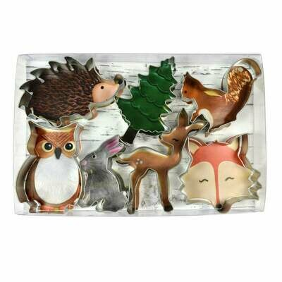 By AH -Set of 7 Cookie Cutters -WOODLAND ANIMALS - Σετ 7 τεμ κουπ πατ Ζώα του Δάσους