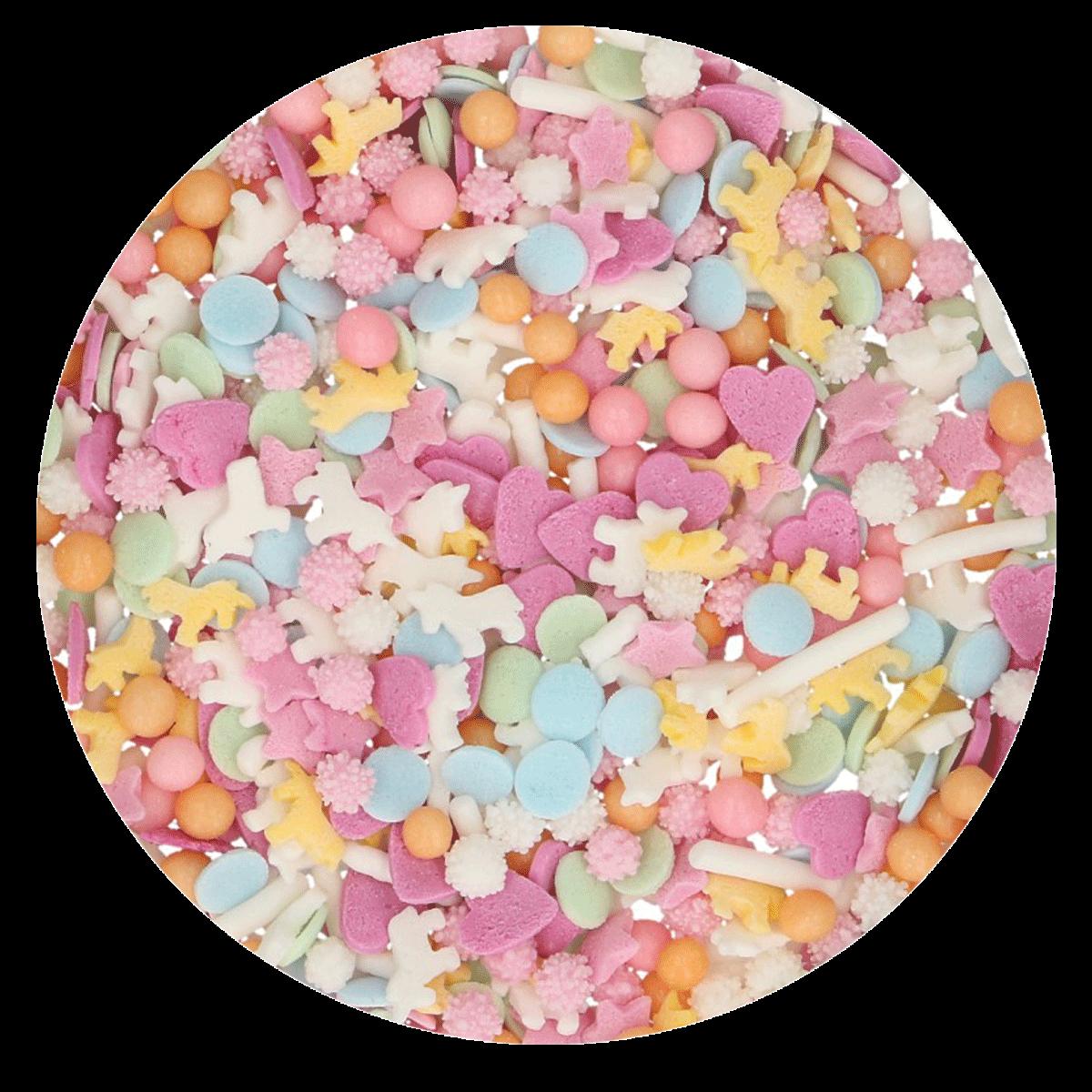 FunCakes Sprinkle Mix 50γρ -PASTEL UNICORN MEDLEY - Μείγμα Ζαχαρωτών - Μονόκερος - Παστέλ χρώματα