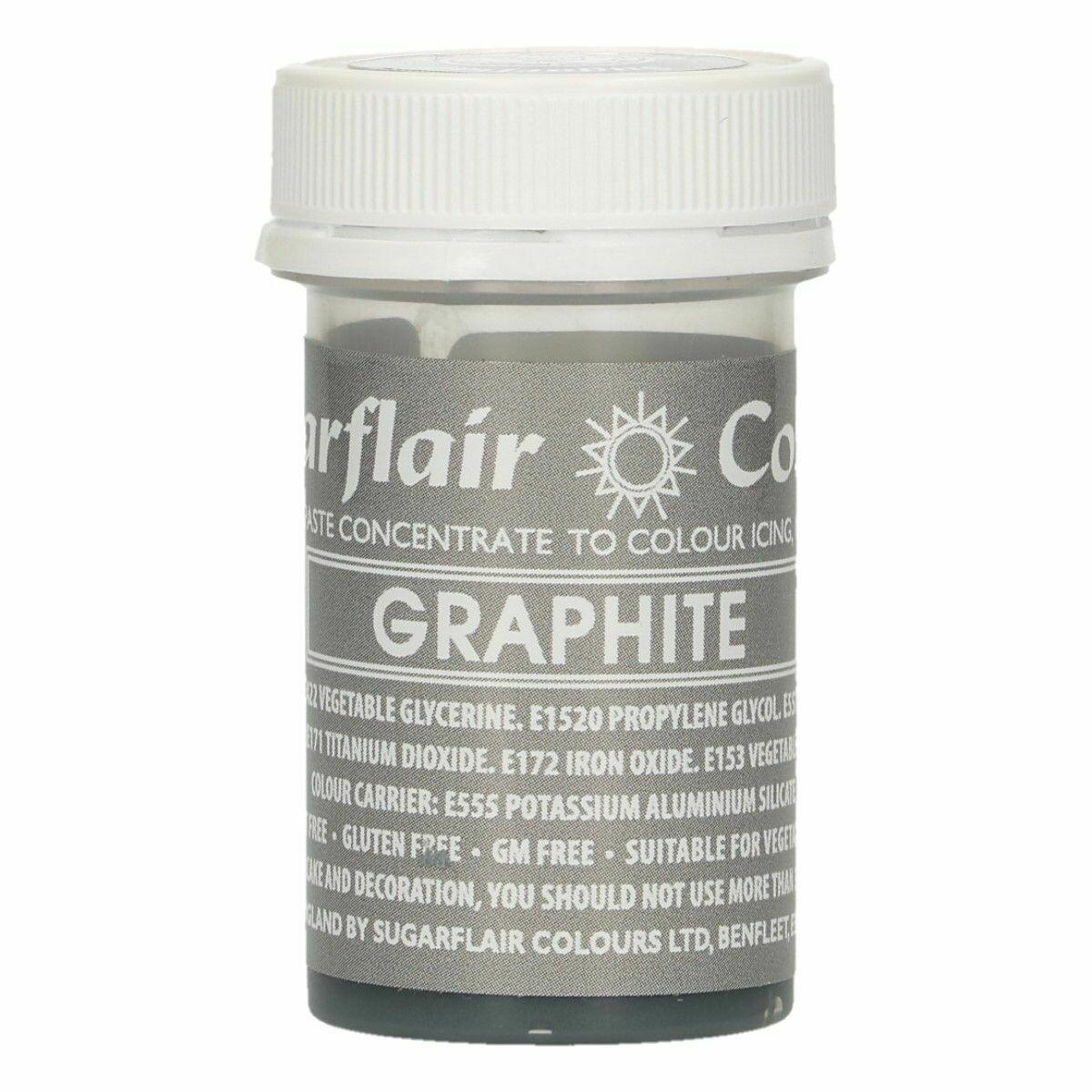 Sugarflair Paste Colours -GRAPHITE -Χρώμα σε Πάστα Γραφίτης