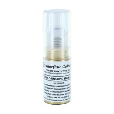 Sugarflair Powder Puff Glitter Dust Pump Spray -FINISHING SPARKLE -GOLD 10g - Βρώσιμο Γκλίτερ σε σπρέι - Λαμπερό Τελείωμα Χρυσό