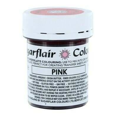 Sugarflair Chocolate Colour -PINK 35g - Χρώμα σοκολάτας -Ροζ
