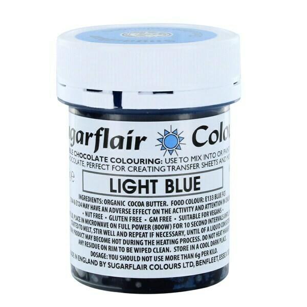 Sugarflair Chocolate Colour -LIGHT BLUE 35g - Χρώμα σοκολάτας -Γαλάζιο