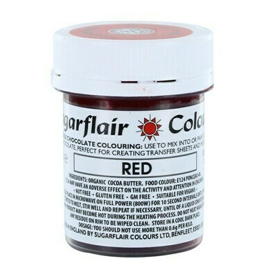 Sugarflair Chocolate Colour -RED 35g - Χρώμα σοκολάτας -Κόκκινο