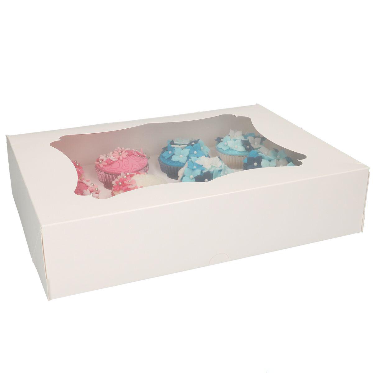 Box for 12 Cupcakes/Muffins -Κουτί για 12 Καπκέϊκς/Μάφινς