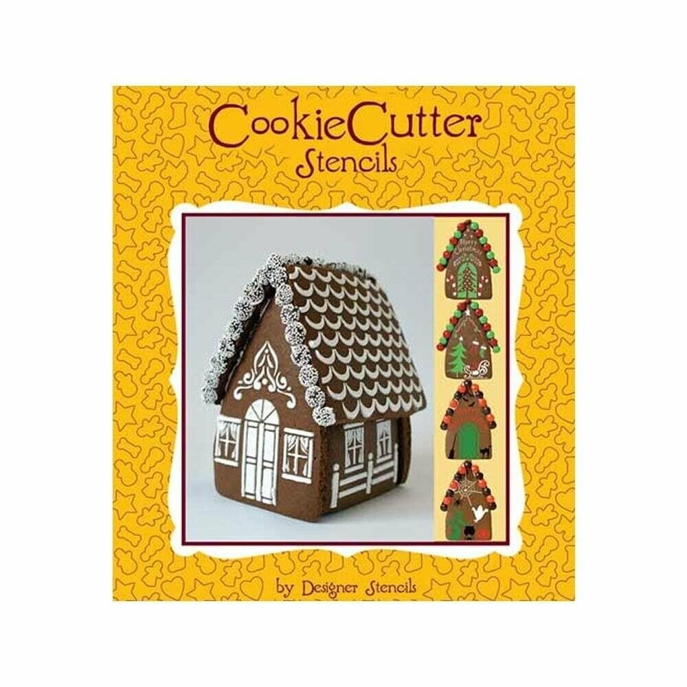 Designer Stencils -Gingerbread House Set Of 4 - Σετ 4τεμ Στένσιλ για μπισκοτόσπιτο