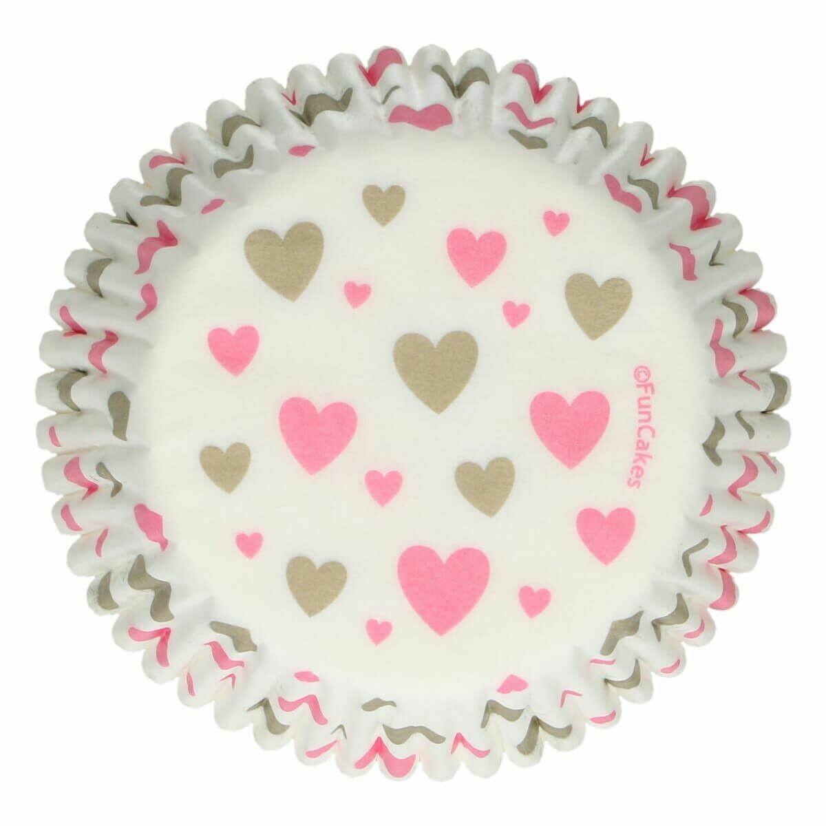 SALE!!! FunCakes Cupcake Cases -HEARTS -Θήκες Ψησίματος Καρδούλες 48 τεμ