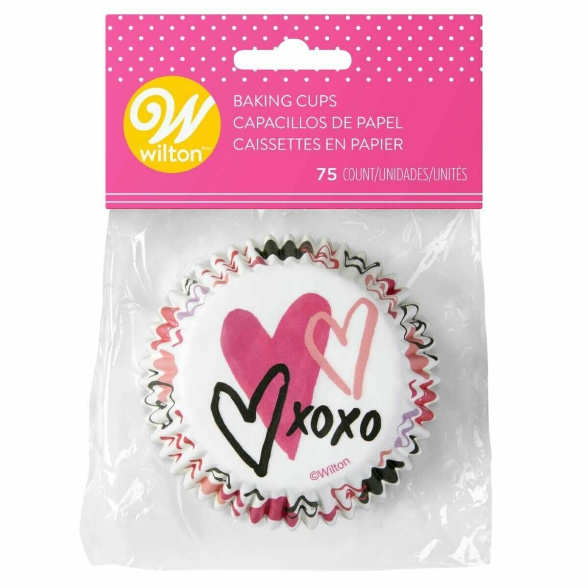 SALE!!! Wilton Valentine Cupcake Cases -TRADITIONAL -Θήκες ψησίματος Καπκέικ/Μάφιν 75 τεμ