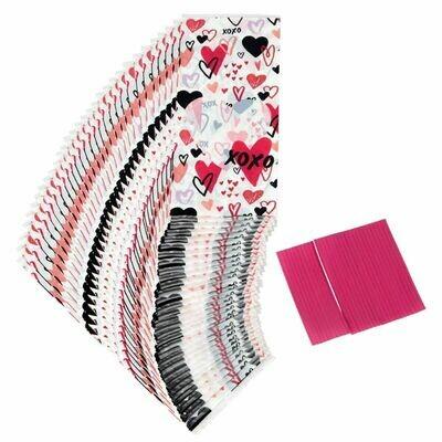 Wilton Valentine Treat Bags -TRADITIONAL -Pack of 30 - 30τεμ Σακουλάκια και συρματάκια για γλυκά και ζαχαρωτά ∞