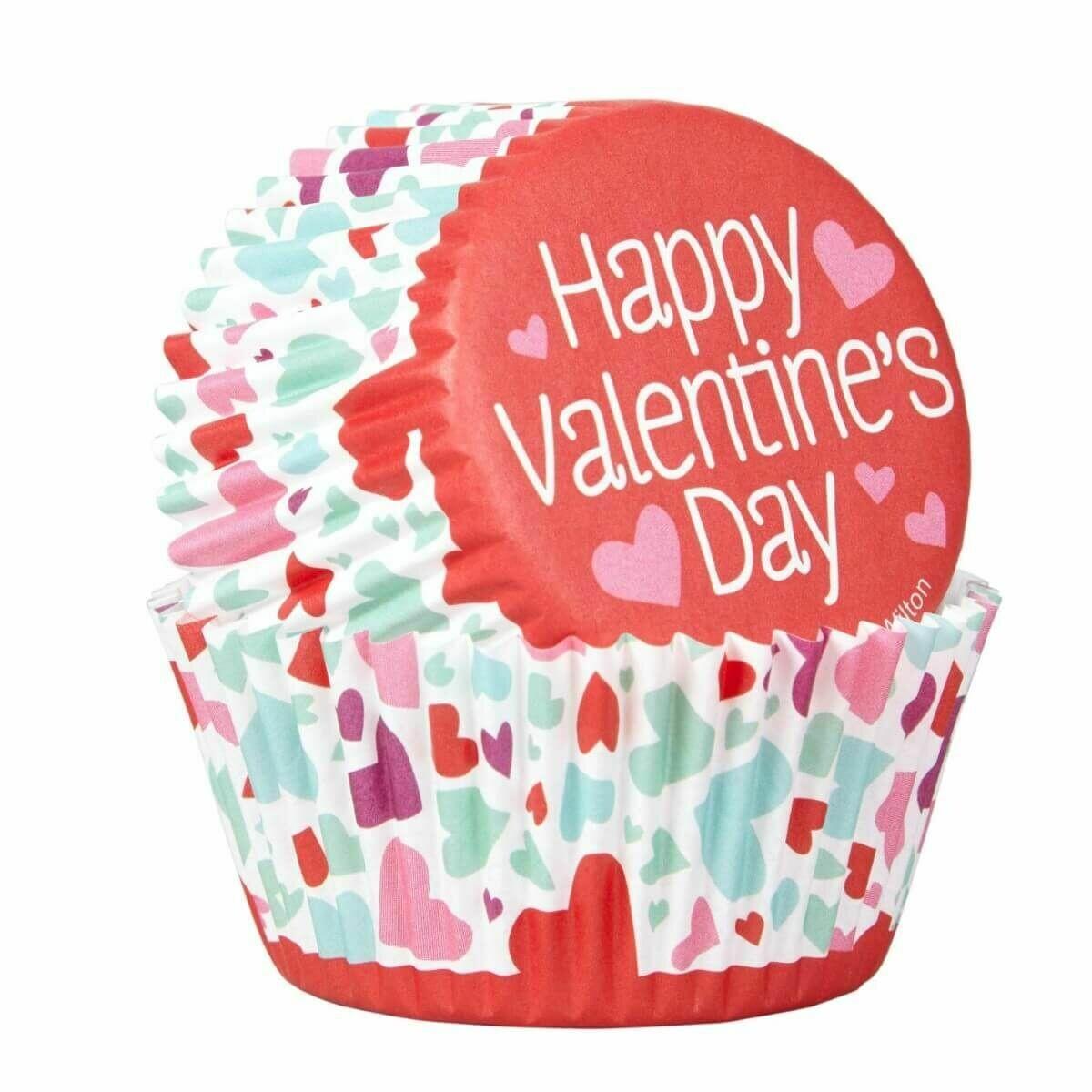 SALE!!! Wilton Valentine Cupcake Cases -'COMBO PACK'  -Θήκες ψησίματος Καπκέικ/Μάφιν 24 τεμ και τόπερ καρδιές με θέμα τον Άγιο Βαλεντίνο