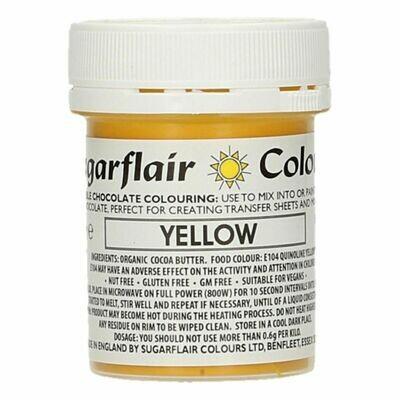 Sugarflair Chocolate Colour -YELLOW 35g - Χρώμα σοκολάτας -Κίτρινο