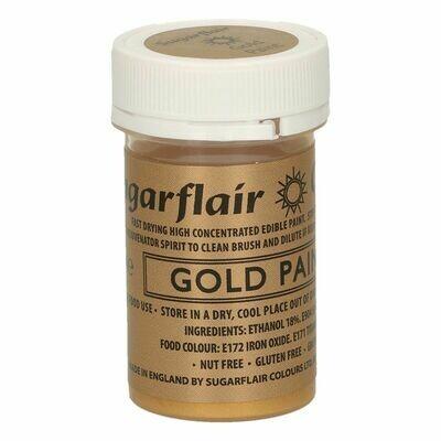 Sugarflair Matt Food Paints -GOLD -Ματ Βρώσιμο Χρώμα Ζωγραφικής -Χρυσό 20γρ