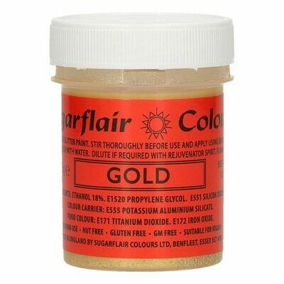 Sugarflair Food Paints -GLITTER GOLD -Βρώσιμο Χρώμα Ζωγραφικής -Γκλίτερ Χρυσό 35γρ