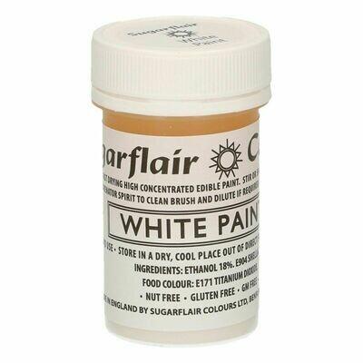 Sugarflair Matt Food Paints -WHITE -Ματ Βρώσιμο Χρώμα Ζωγραφικής -Λευκό 20γρ