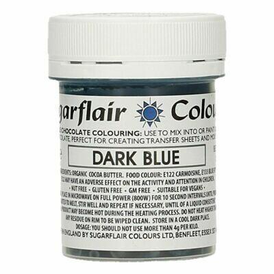 Sugarflair Chocolate Colour -DARK BLUE 35g - Χρώμα σοκολάτας -Σκούρο Μπλε