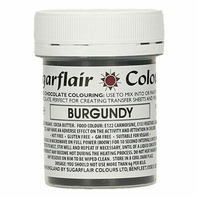 Sugarflair Chocolate Colour -Burgundy 35g - Χρώμα σοκολάτας -Μπορντώ
