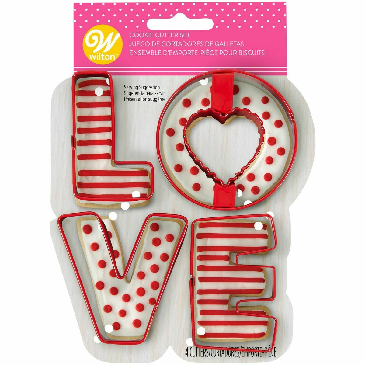 Wilton Cookie Cutter Set of 4 -'LOVE'  -Σετ 4τεμ Κουπ πατ  'LOVE'
