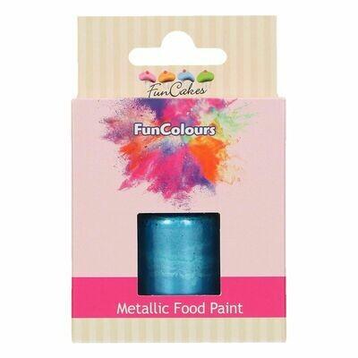 FunCakes Edible Metallic Food Paints -ROYAL BLUE -Μεταλλικό Βρώσιμο Χρώμα Ζωγραφικής - Βασιλικό Μπλε  30ml