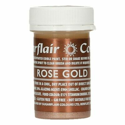 Sugarflair Matt Food Paints -ROSE GOLD -Ματ Βρώσιμο Χρώμα Ζωγραφικής -Ροζ Χρυσό 20γρ