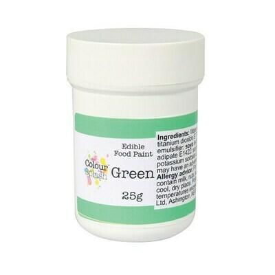 Colour Splash Edible PAINT -MATT GREEN -Βρώσιμο Χρώμα Ζωγραφικής -Πράσινο Ματ 25γρ