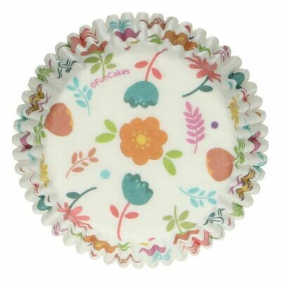 SALE!!! FunCakes Cupcake Cases -FLORAL -Θήκες Ψησίματος με λουλούδια 48 τεμ