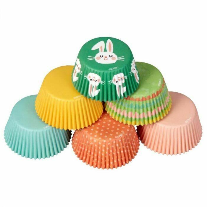 SALE!!! Wilton Easter Cupcake Cases -HAPPY EASTER PACK -Θήκες ψησίματος Καπκέικ/Μάφιν με πασχαλινό θέμα 150 τεμ