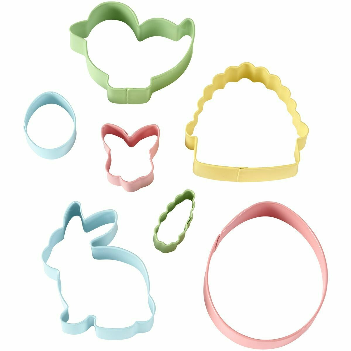 Wilton Easter Cookie Cutters Set of 7 -BUNNIES, CHICΚ, EGGS, CARROT, BASKET,  Σετ 7τεμ Κουπ πάτ με Πασχαλινό θέμα
