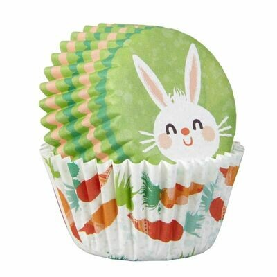 Wilton Easter Cupcake Cases -MINI -EASTER BUNNY -Μίνι θήκες ψησίματος Καπκέικ/Μάφιν  με πασχαλινό θέμα 100τμχ