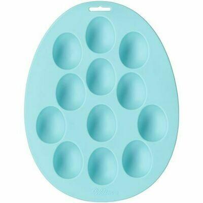 Wilton Easter Petite Silicone Mould -EGGS -Καλούπι Σιλικόνης για μικρά αυγά με 12 θήκες