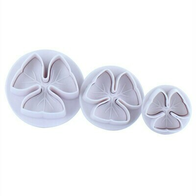 Cake Star Plunger Cutters -3 PETAL FLOWER - Σετ 3τεμ Κουπ πάτ με Eκβολέα Λουλούδι με 3 πέταλα ∞