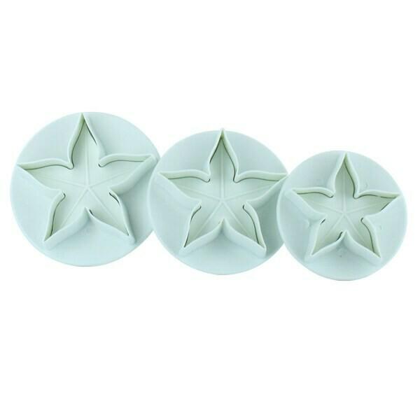 Cake Star Plunger Cutters -CALYX -Σετ 3τεμ Κουπ πατ Μπουμπούκι (κάλυκας) με Eκβολέα
