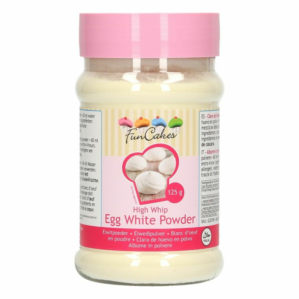FunCakes -EGG WHITE POWDER -HIGH WHIP -125γρ - Ασπράδι Αυγού σε Σκόνη
