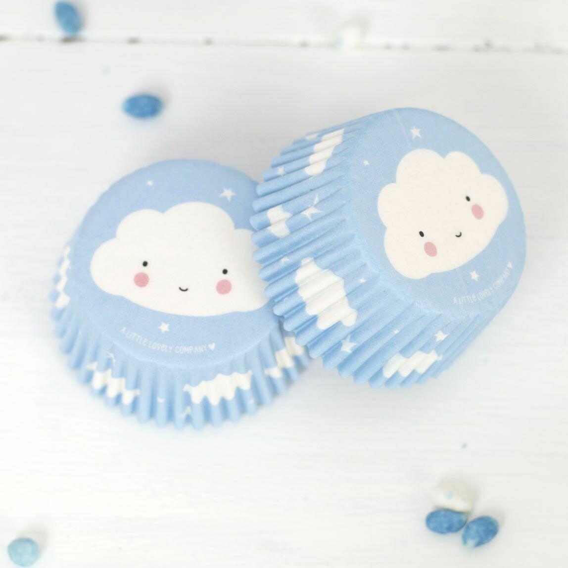 ALLC Cupcake Cases -CLOUD -Θήκες Ψησίματος Σύννεφα 50 τεμ