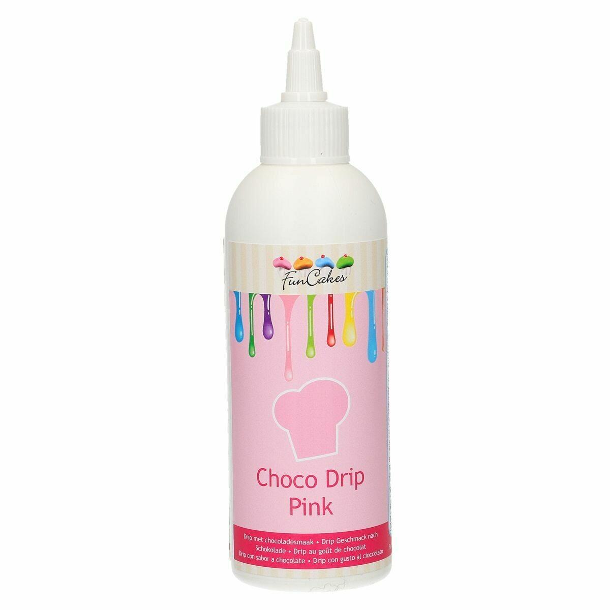 FunCakes Choco Drip -PINK 180g - Drip Σοκολάτας Ροζ