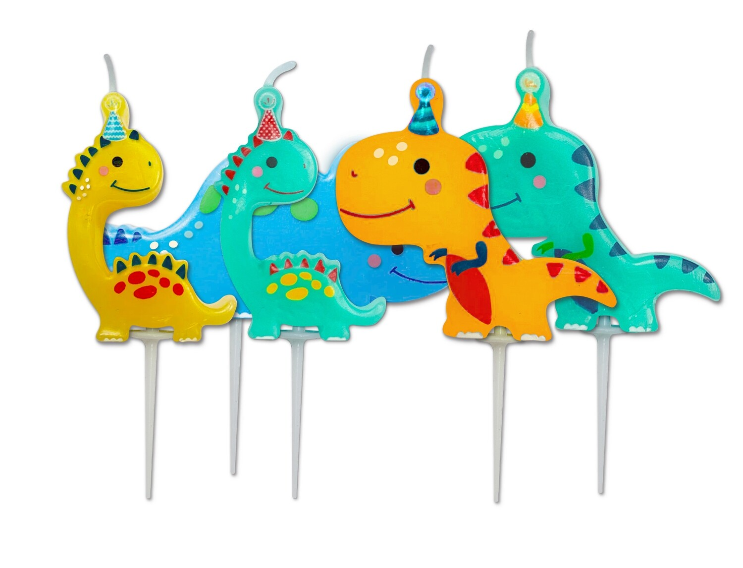 By AH -Candles -DINO PARTY Set of 5 - Κεράκια Δεινόσαυροι 5 τεμ