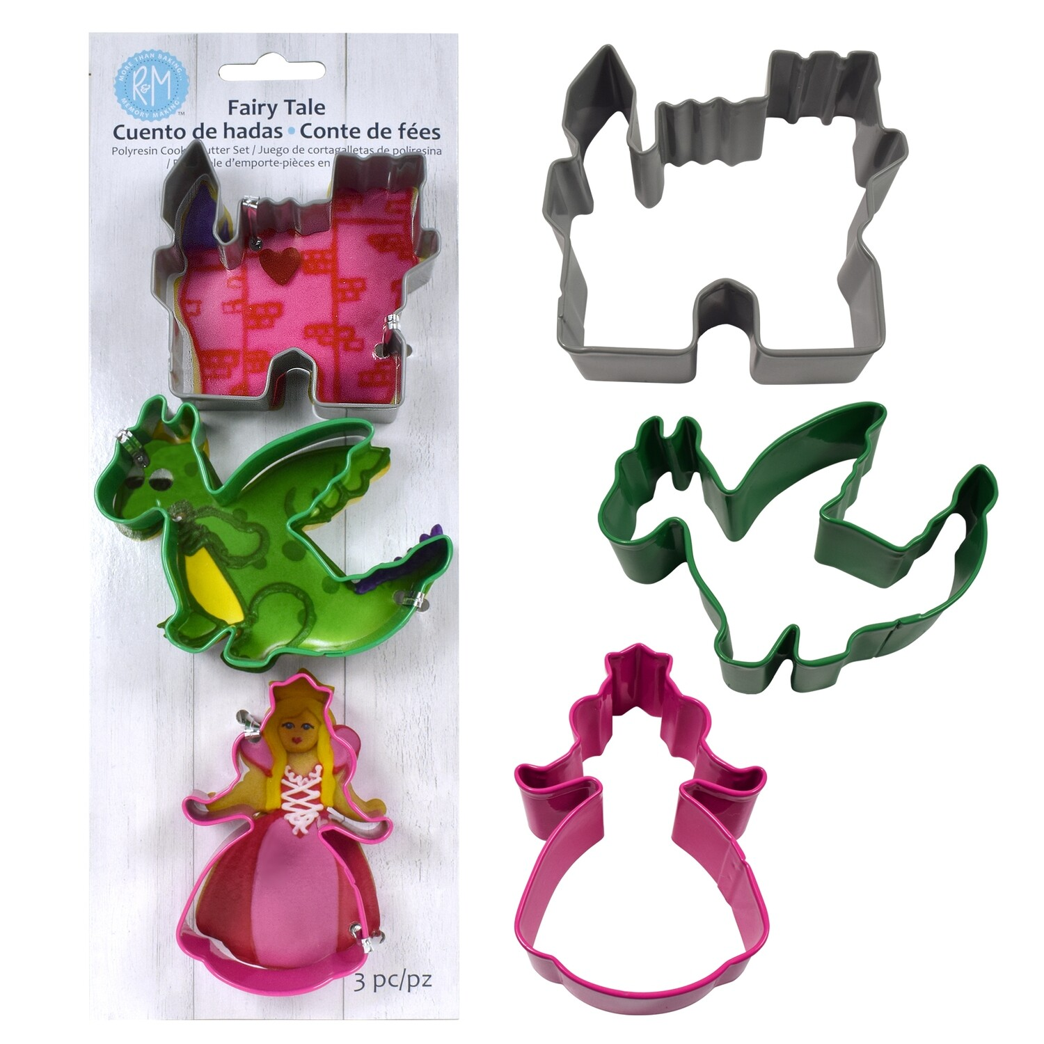 SALE!!! By AH -Set of 3 Cookie Cutters -FAIRYTALE MIX - Σετ 3 Κουπ πατ με Θέμα Παραμύθι