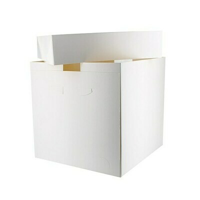 White Tall Cake Box -Ψηλό Κουτί 30εκ με Ύψος 30εκ