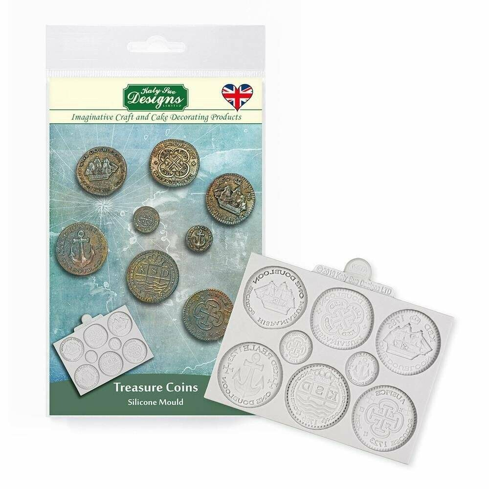 Katy Sue Silicone Mould -TREASURE COINS -Καλούπι Σιλικόνης Νομίσματα Θησαυρού